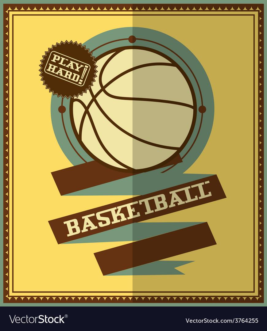 Basketball design element