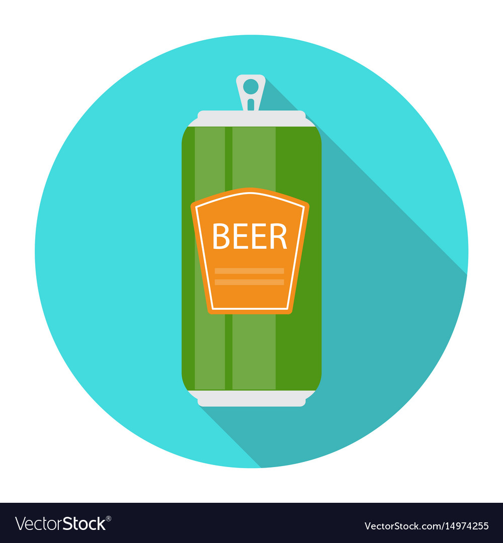Beer bottle template in modern flat style icon on