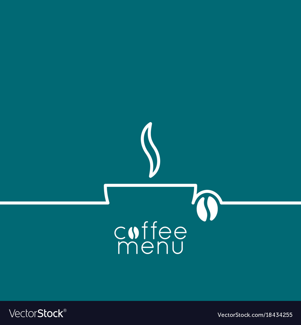 Coffee cup logo line design background