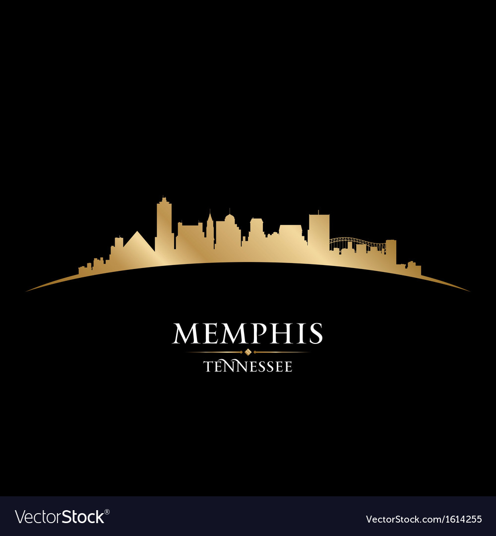 Memphis Tennessee city skyline silhouette