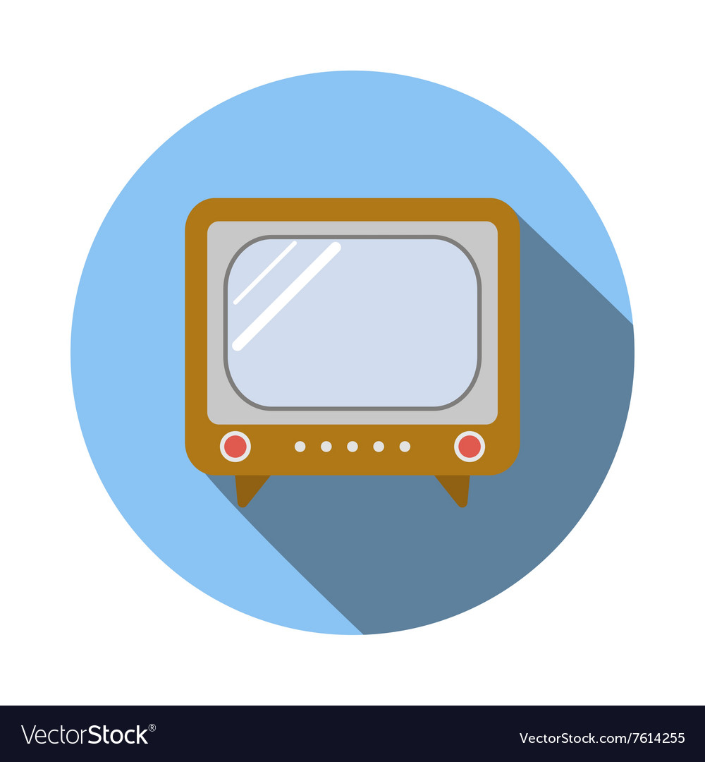 Old TV icon flat style