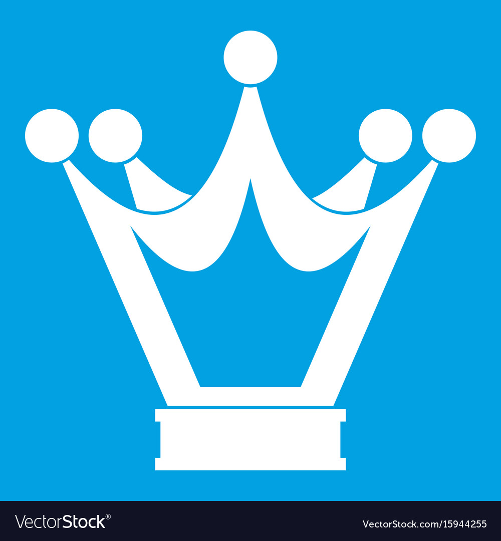 Princess crown icon white vector image
