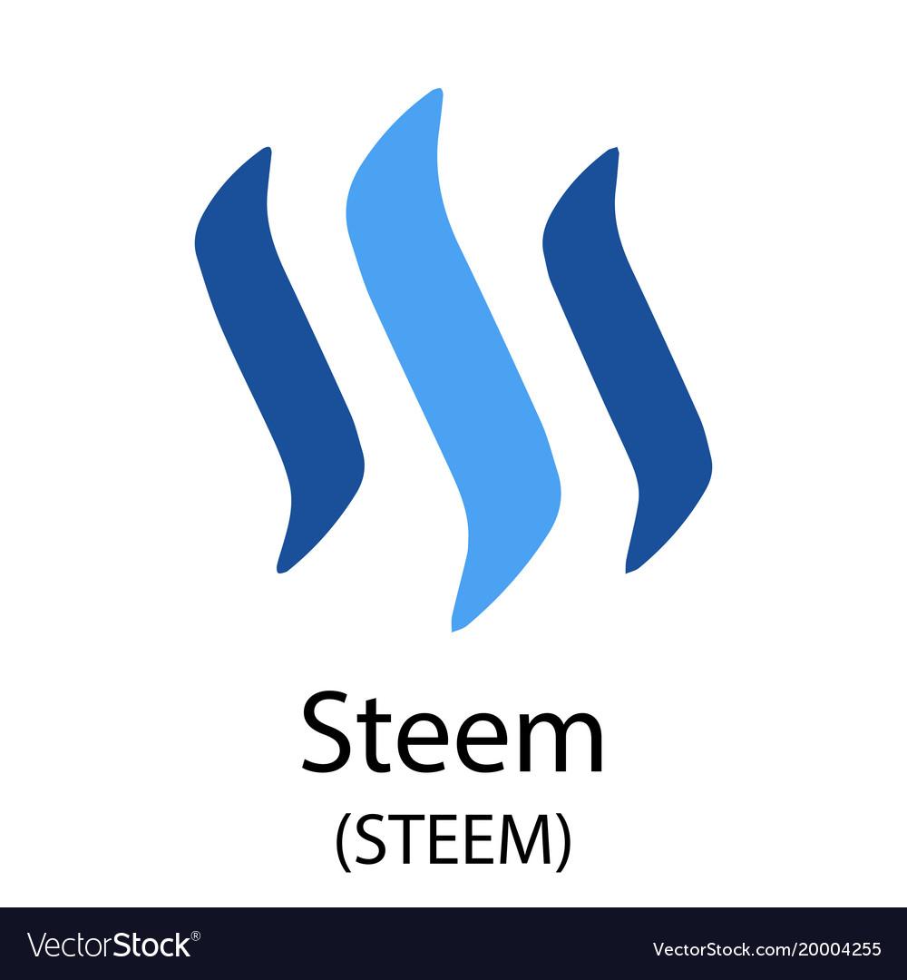 Steem cryptocurrency symbol