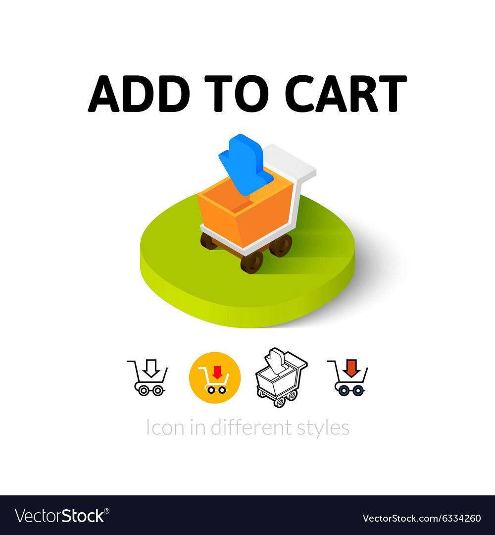 Add to cart icon in different style