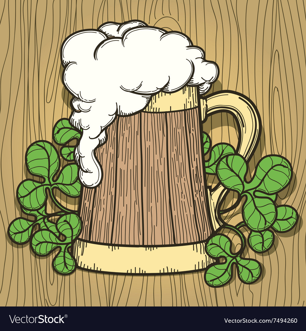 Beer Mug in Cartoon Style vector image