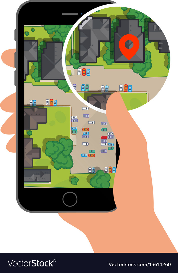 Mobile gps navigation on mobile phone with map and