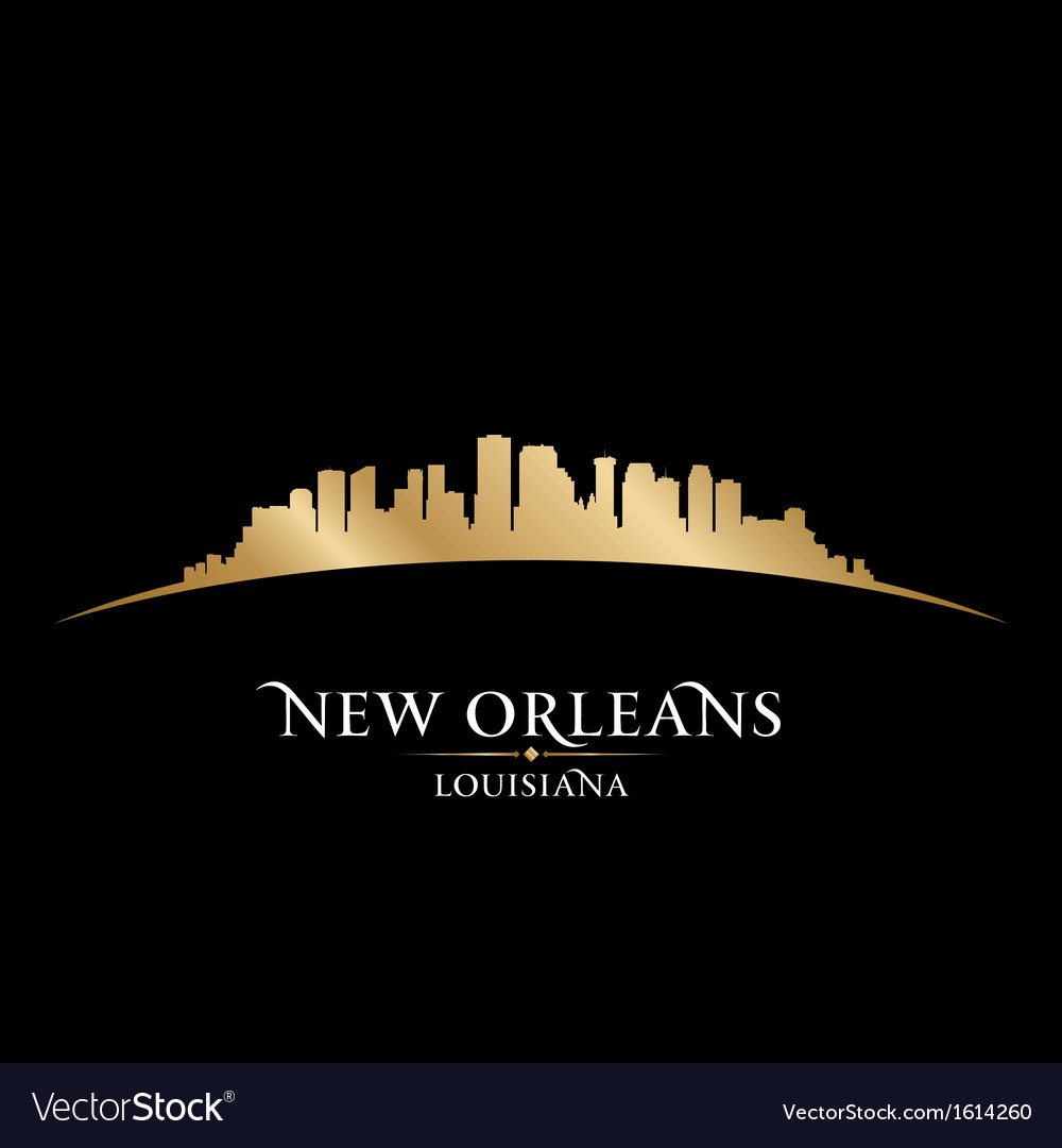 New Orleans Louisiana city skyline silhouette