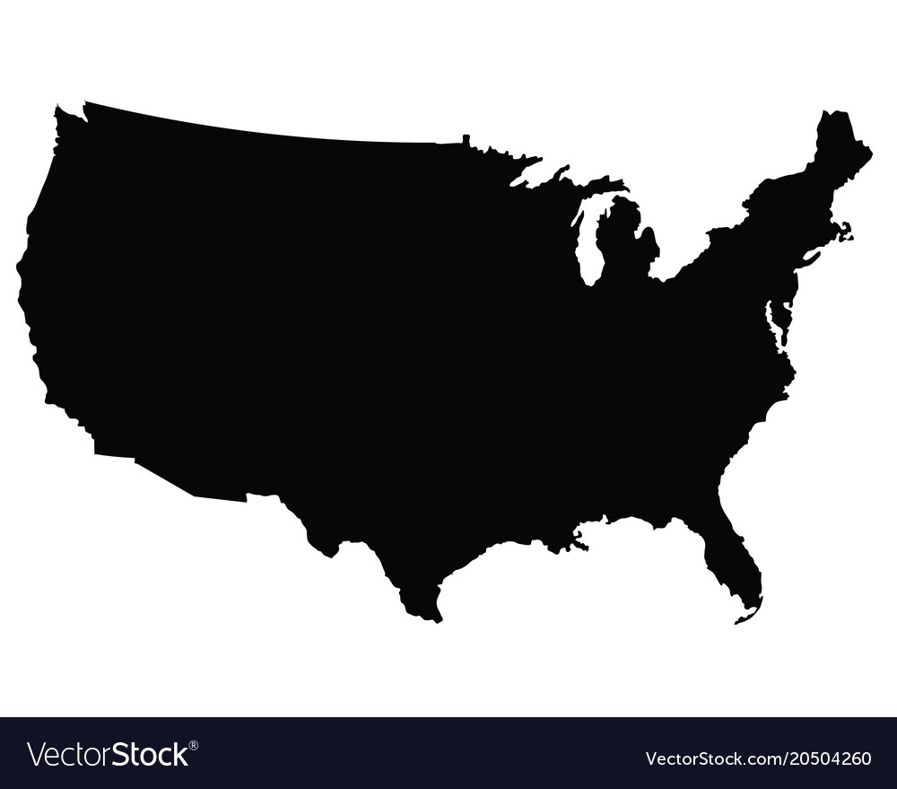 Usa map outline