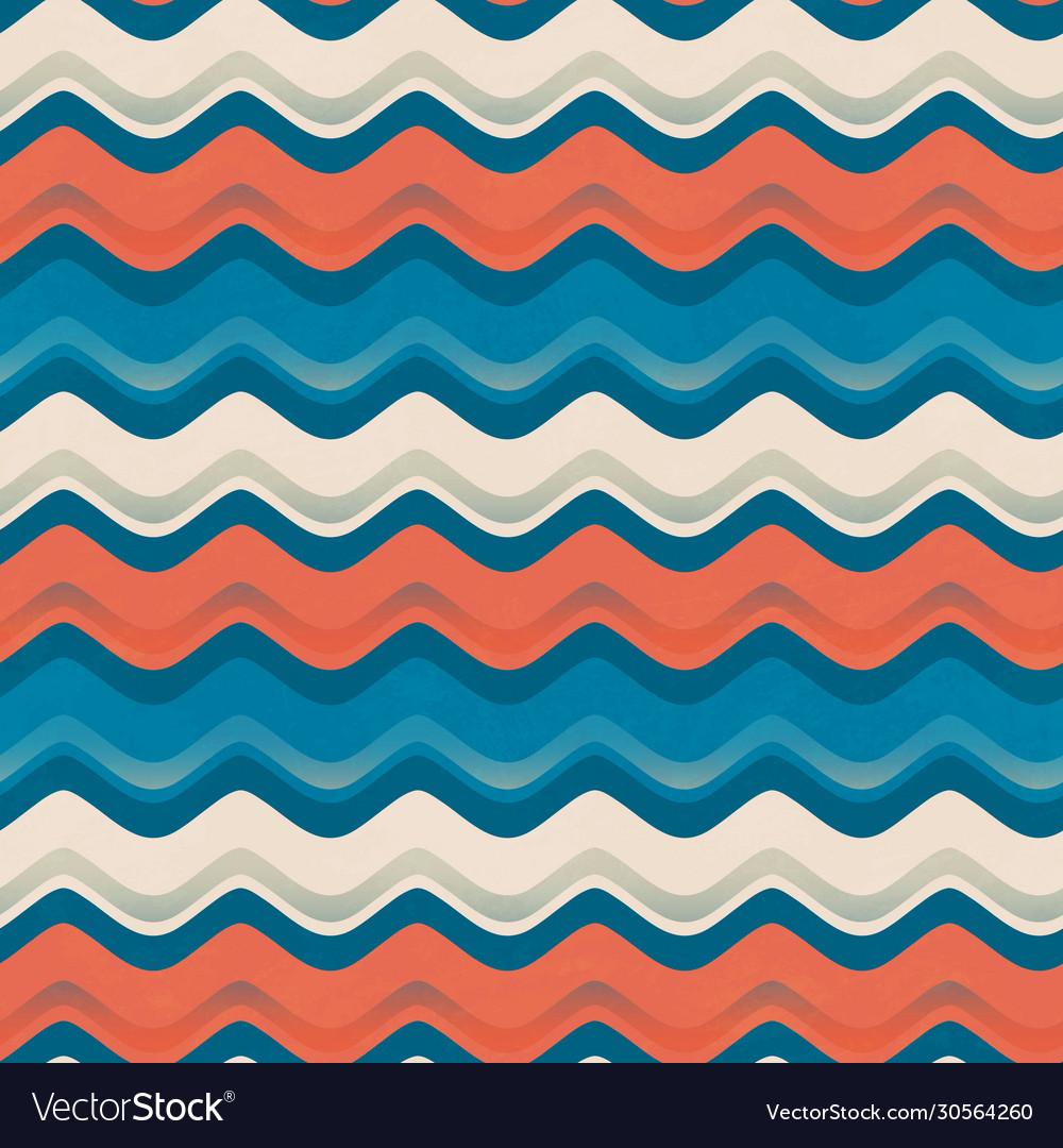 Vintage color wave seamless pattern