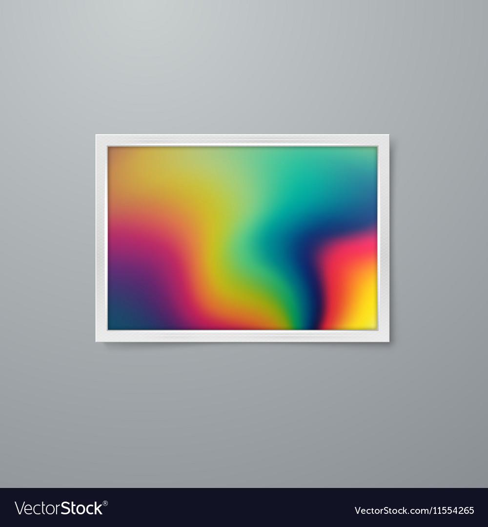 Artistic iridescent poster design