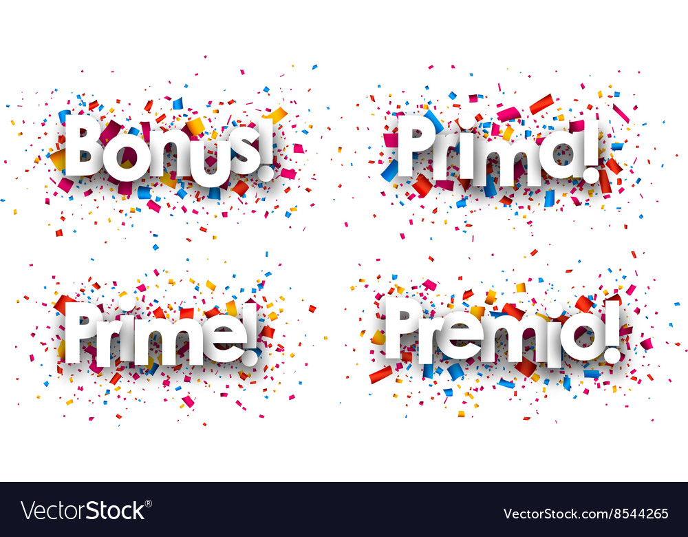 Bonus paper backgrounds vector image