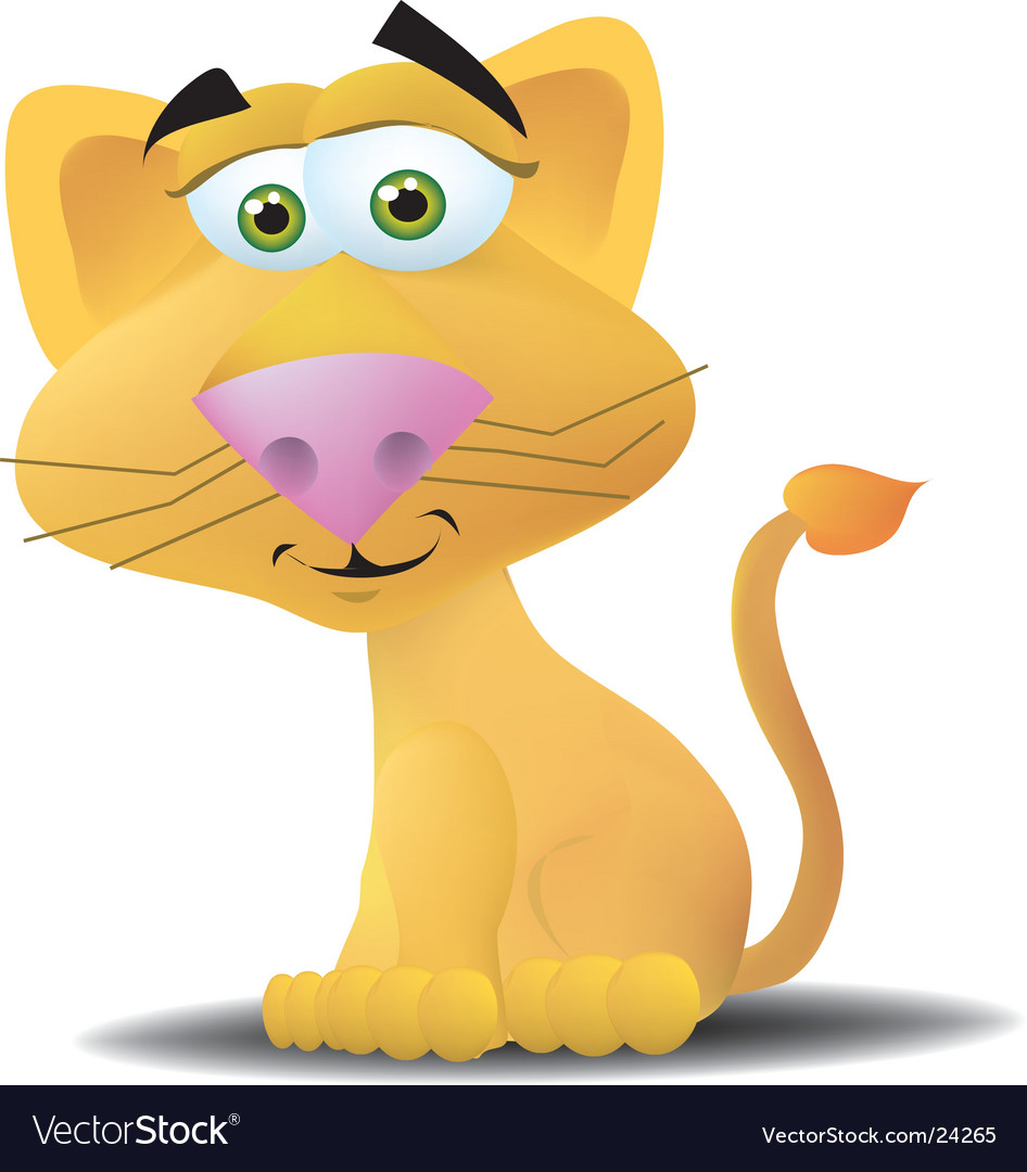 Female lion vector image