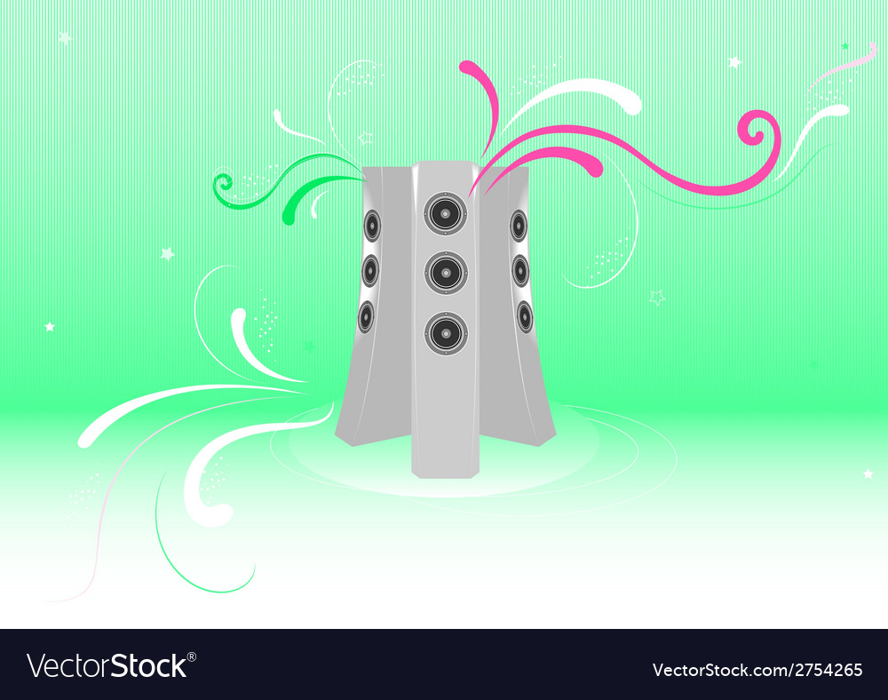 Fresh music abstract background