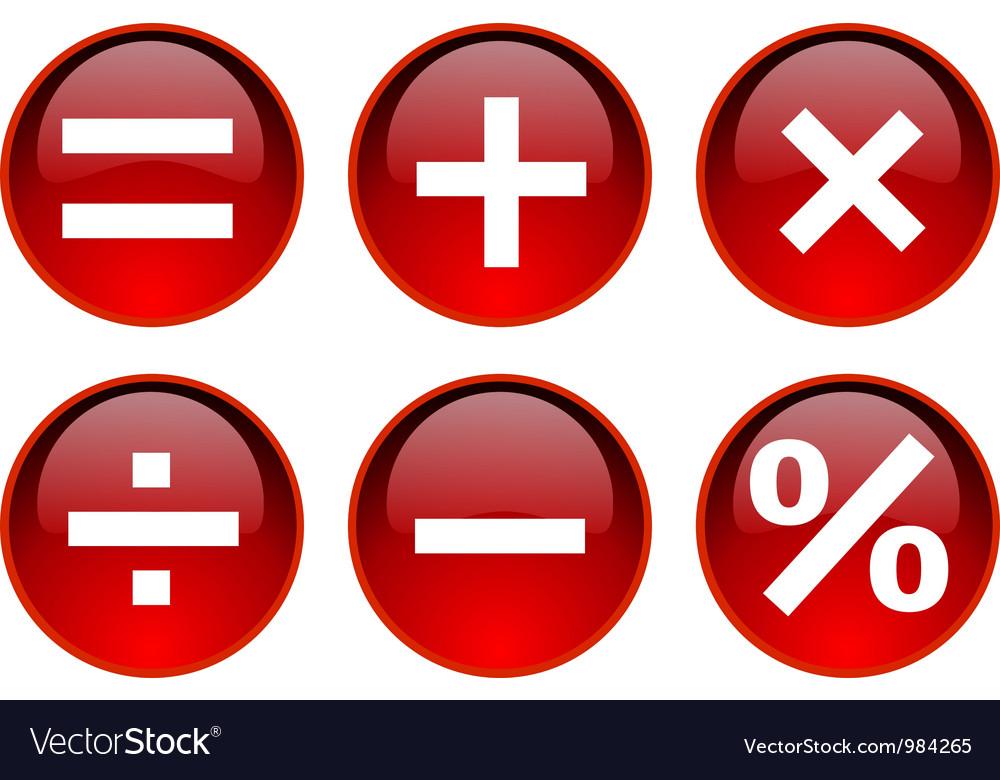 Math Symbol Royalty Free Vector Image Vectorstock