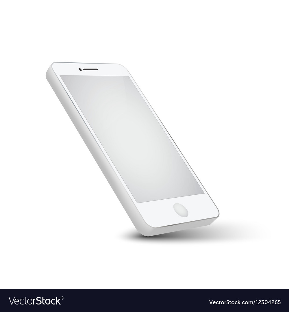 Modern white telephone on white background vector image