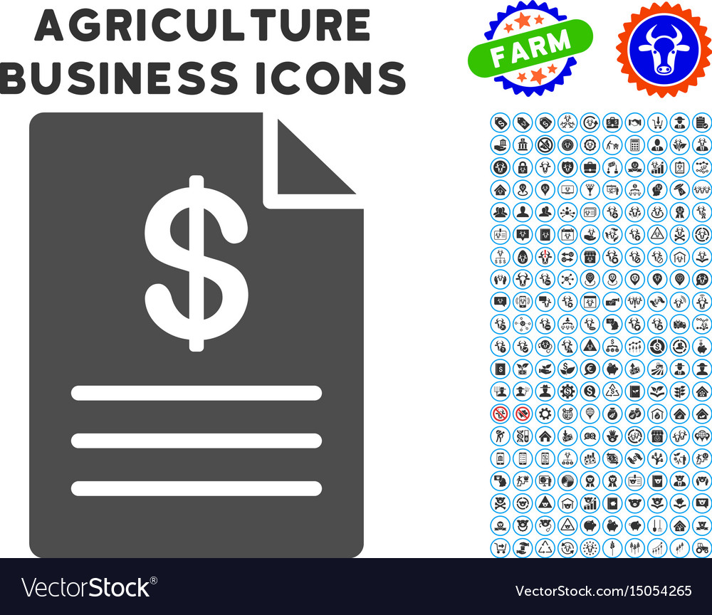 Price list icon with agriculture set
