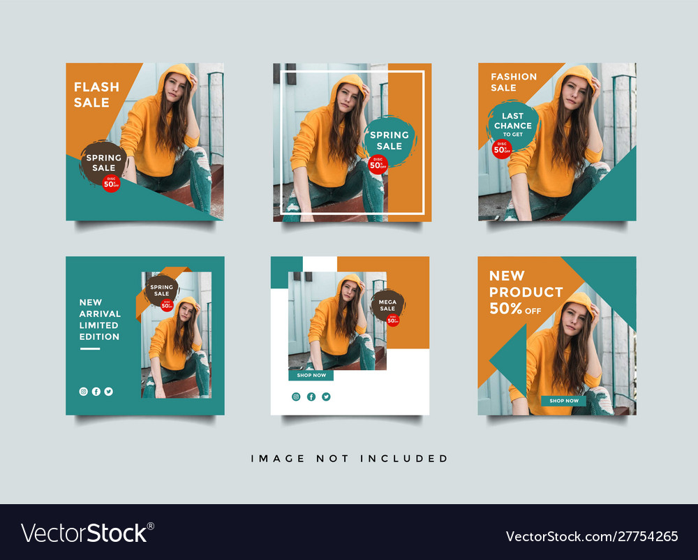 Social Media Post Design Template Royalty Free Vector Image