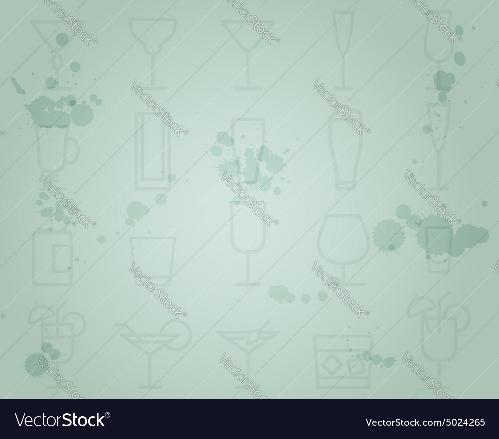 Summer cocktail party grunge background with vector image