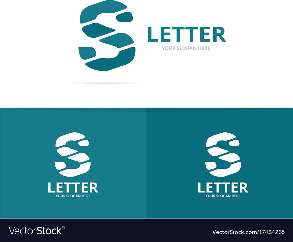 Unique letter s logo design template