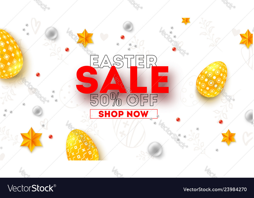 Easter sale ad poster with special holiday offer