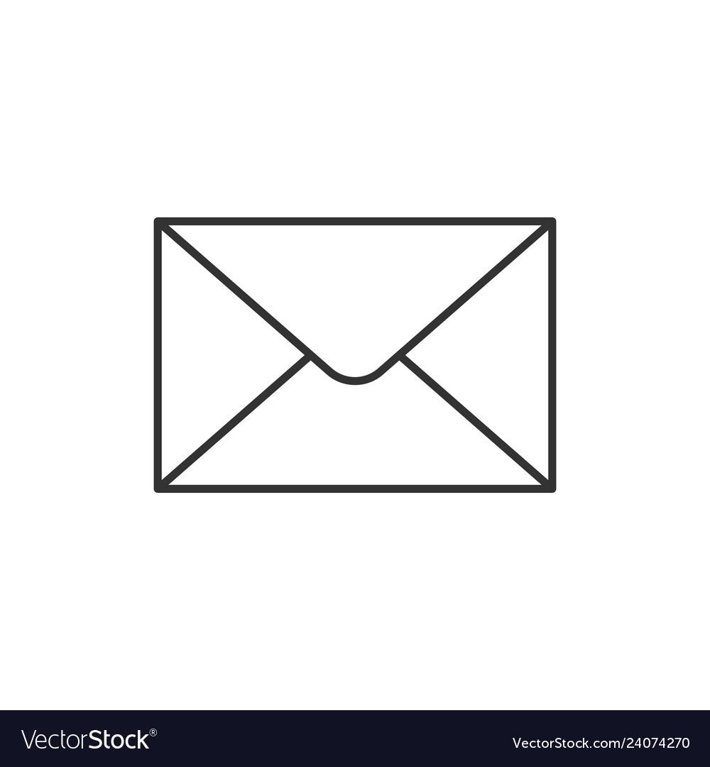Envelope outline icon