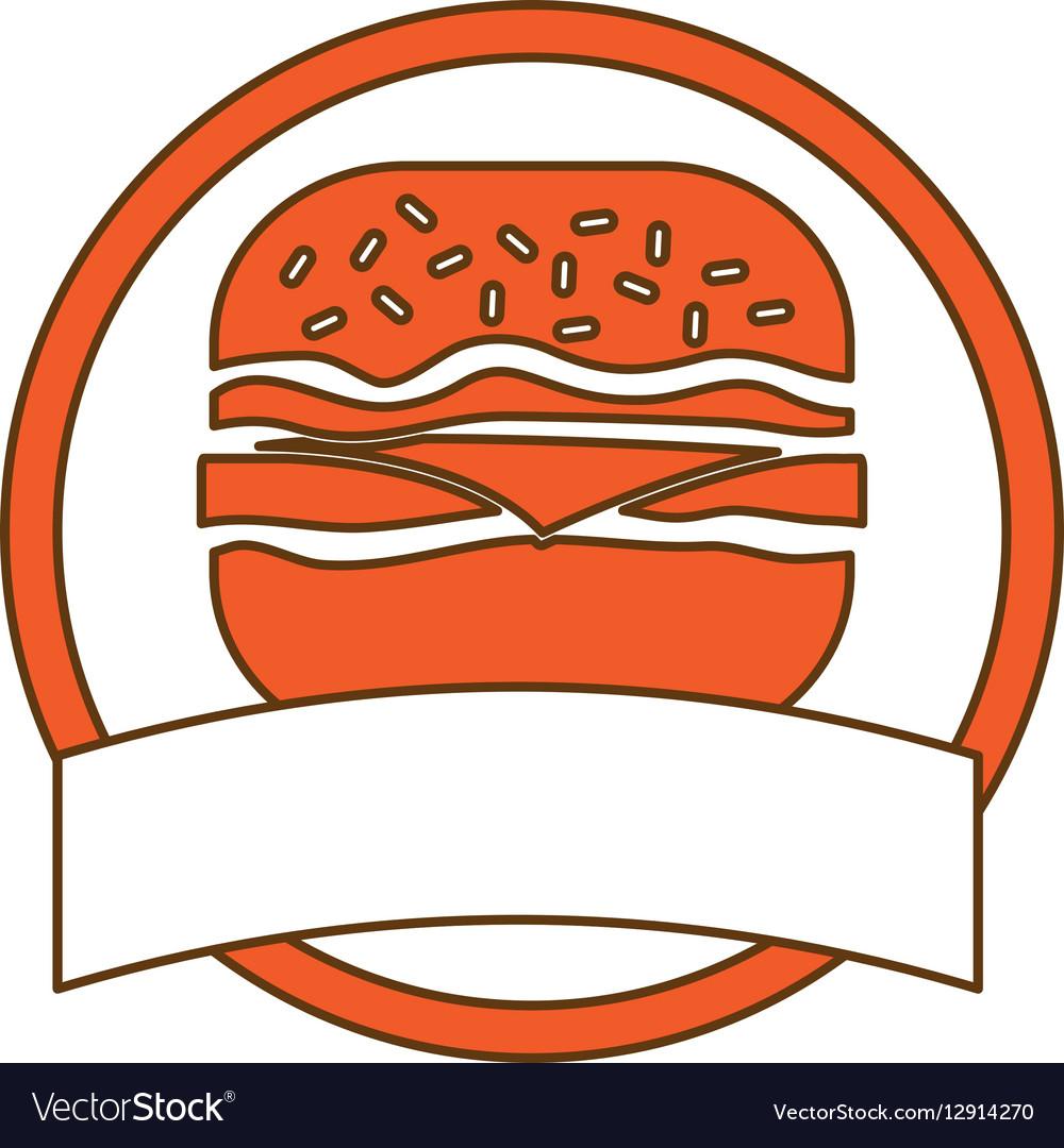 Fast food icon image design