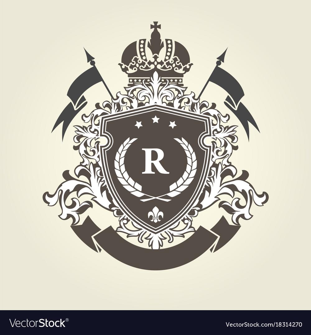 Imperial royal coat of arms - heraldic blazon vector image