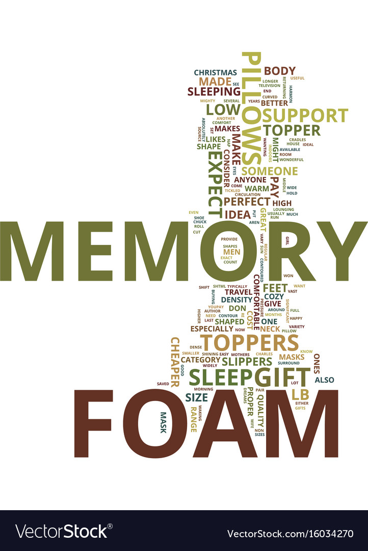 Memory foam the perfect christmas gift idea for vector image