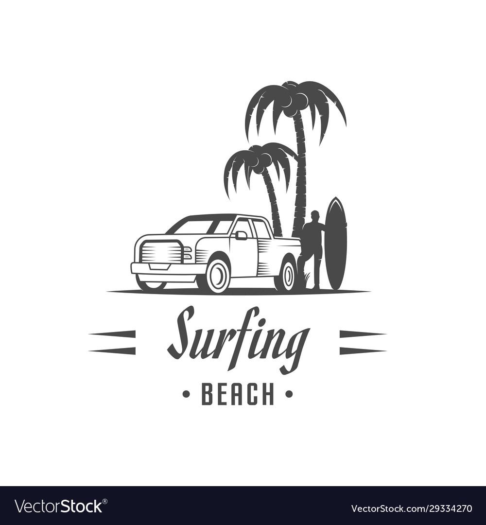 Surfing logotype