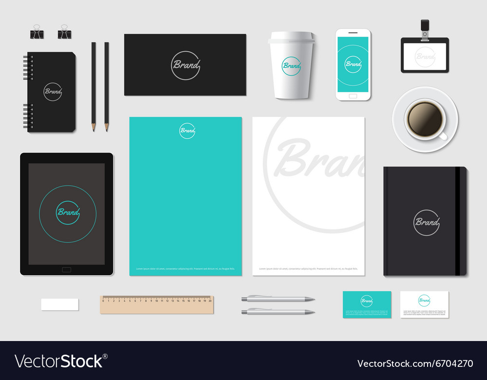 Template mockup for brand presentation on
