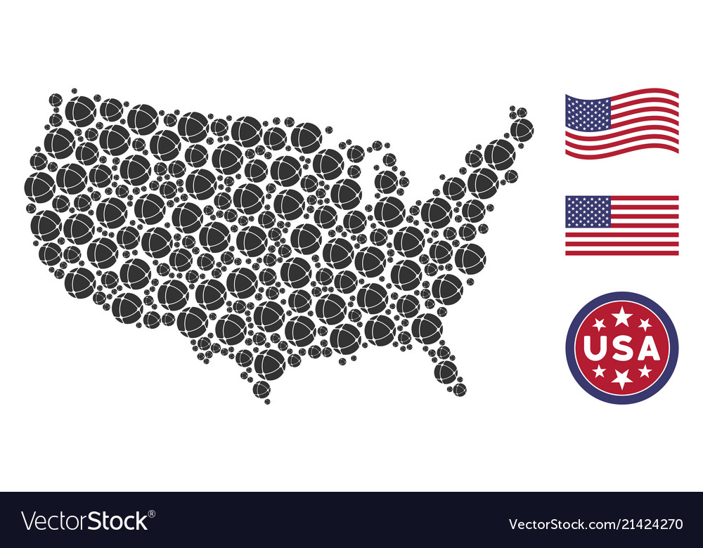 United states map stylized composition of internet