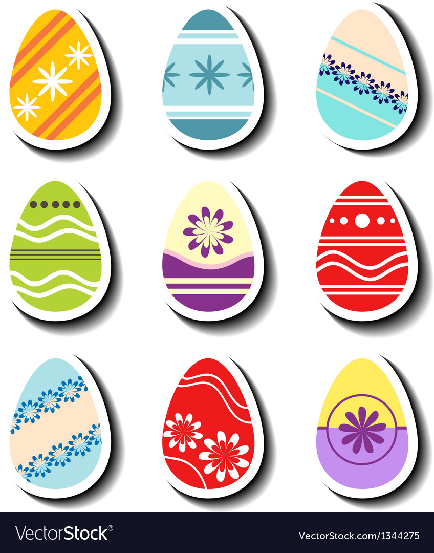 Abstract Easter egg sticker set