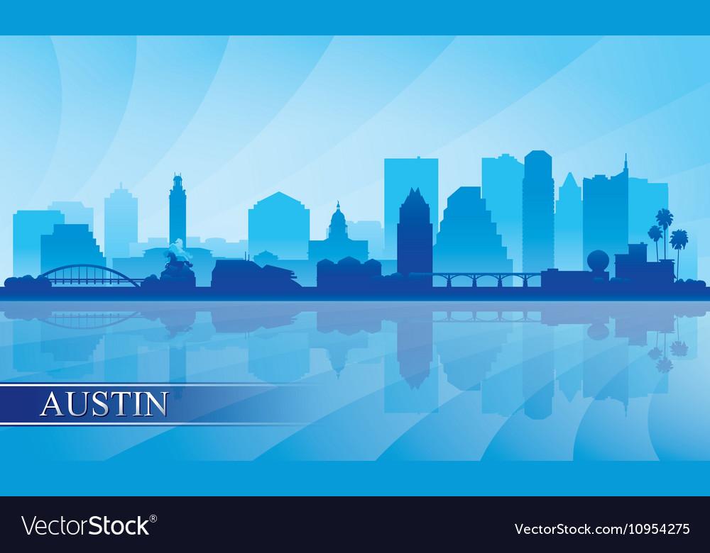 Austin city skyline silhouette background