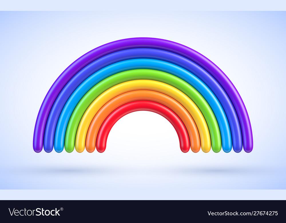 Colorful rainbow arch 3d