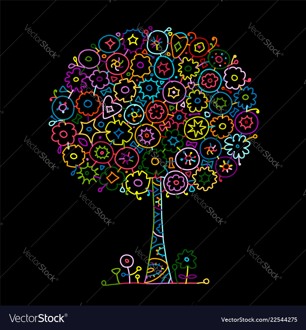 Floral tree for your design