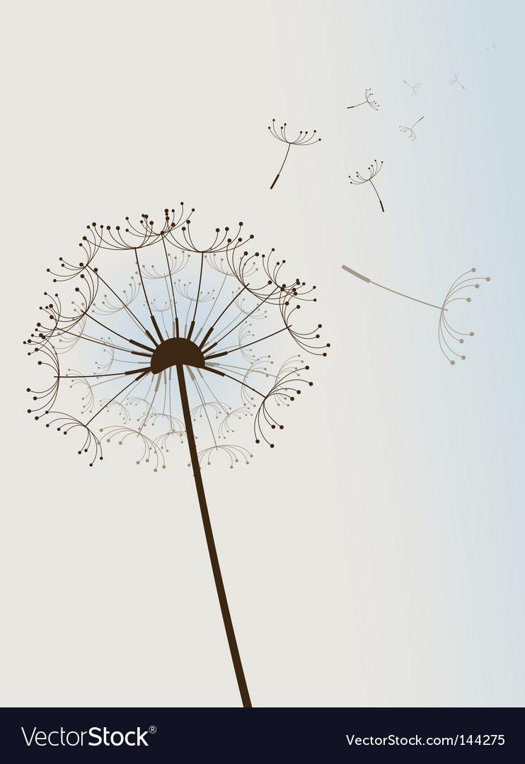Flower in wind vector image