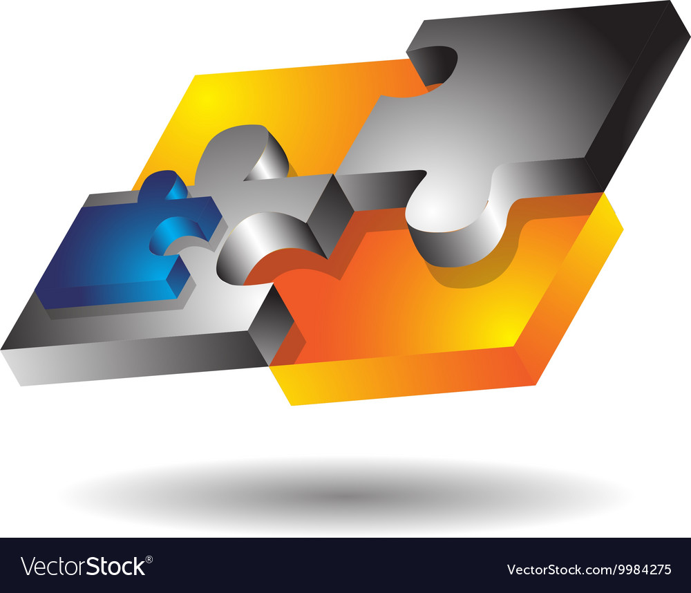 Glossy Modern Puzzle vector image