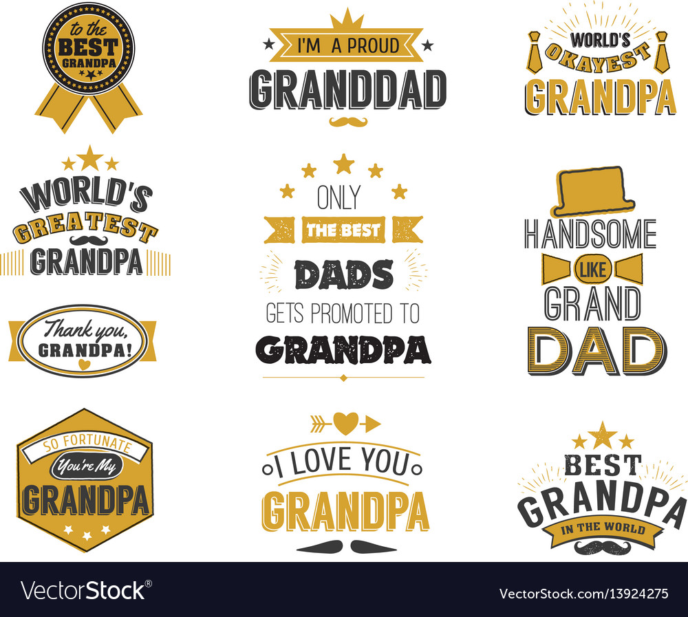 Isolated grandfathers quotes on the white