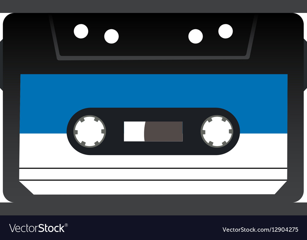 Retro audio tape cassette Isolated