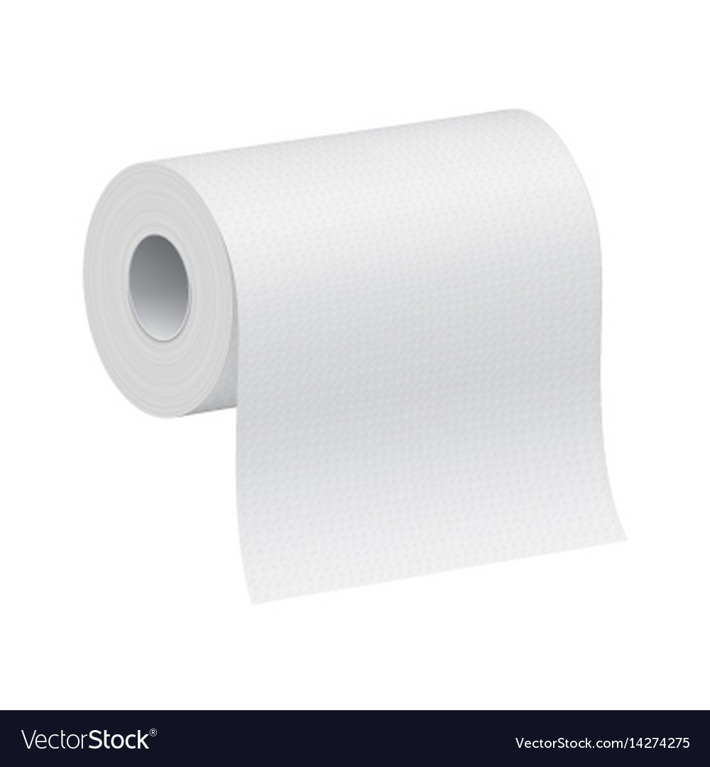 White blank 3d model of paper roll