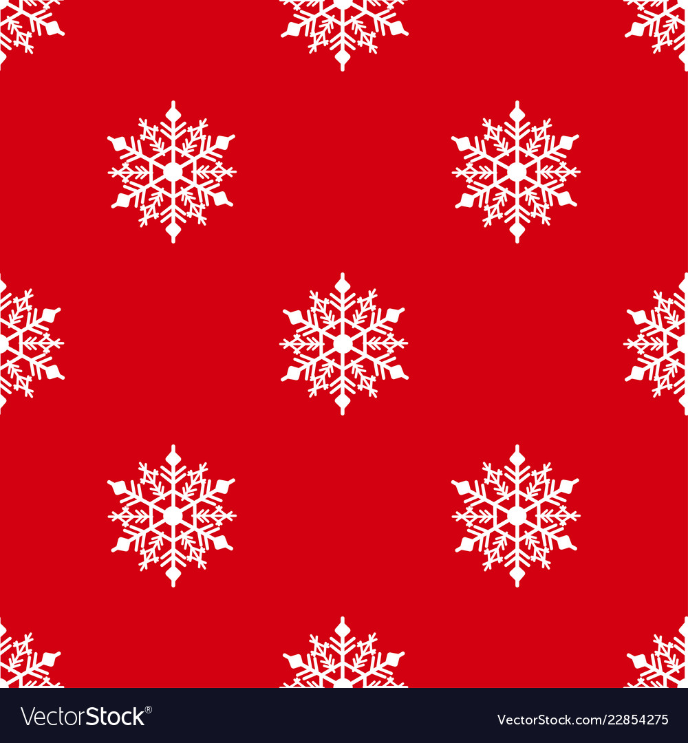 Winter seamless background with snowflakes for