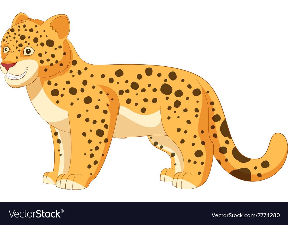Cartoon smiling Leopard
