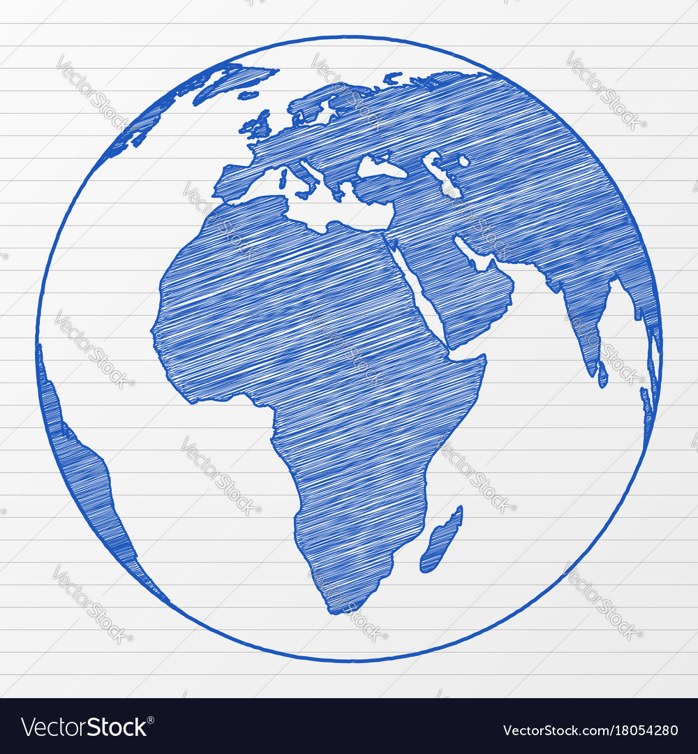Drawing world globe royalty free vector image vectorstock drawing world globe vector image gumiabroncs Image collections