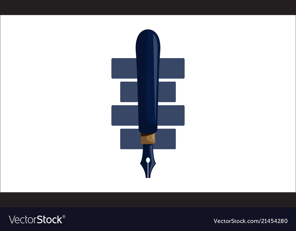 Pencil pen design template isolated