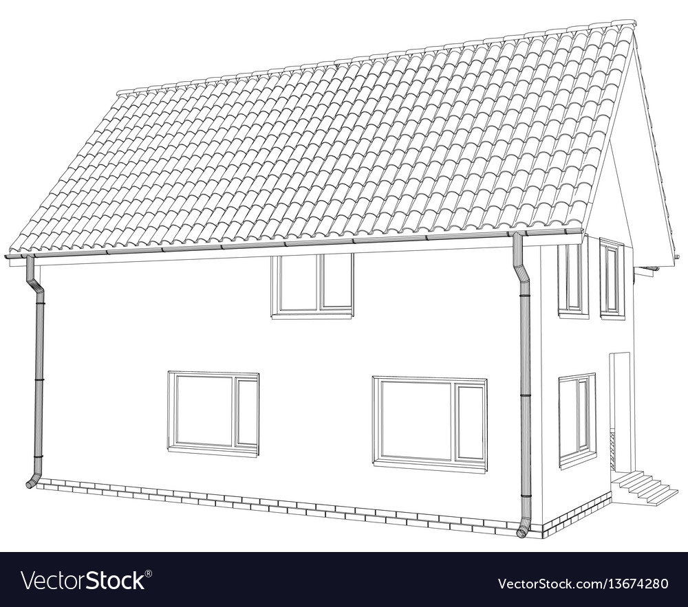 Sketch line at home vector image