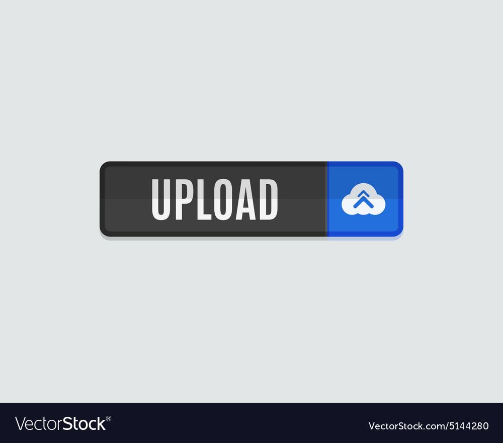 Upload web button flat design