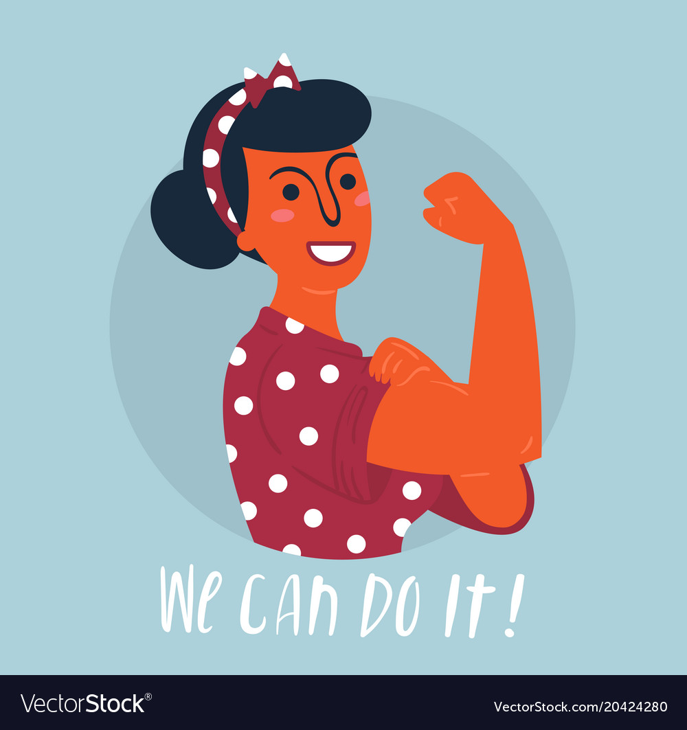 We can do it poster woman rights empowerment