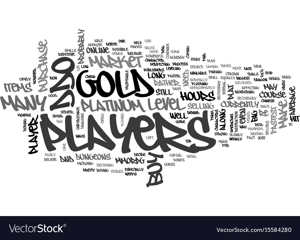 Why players buy ddo gold platinum text word cloud