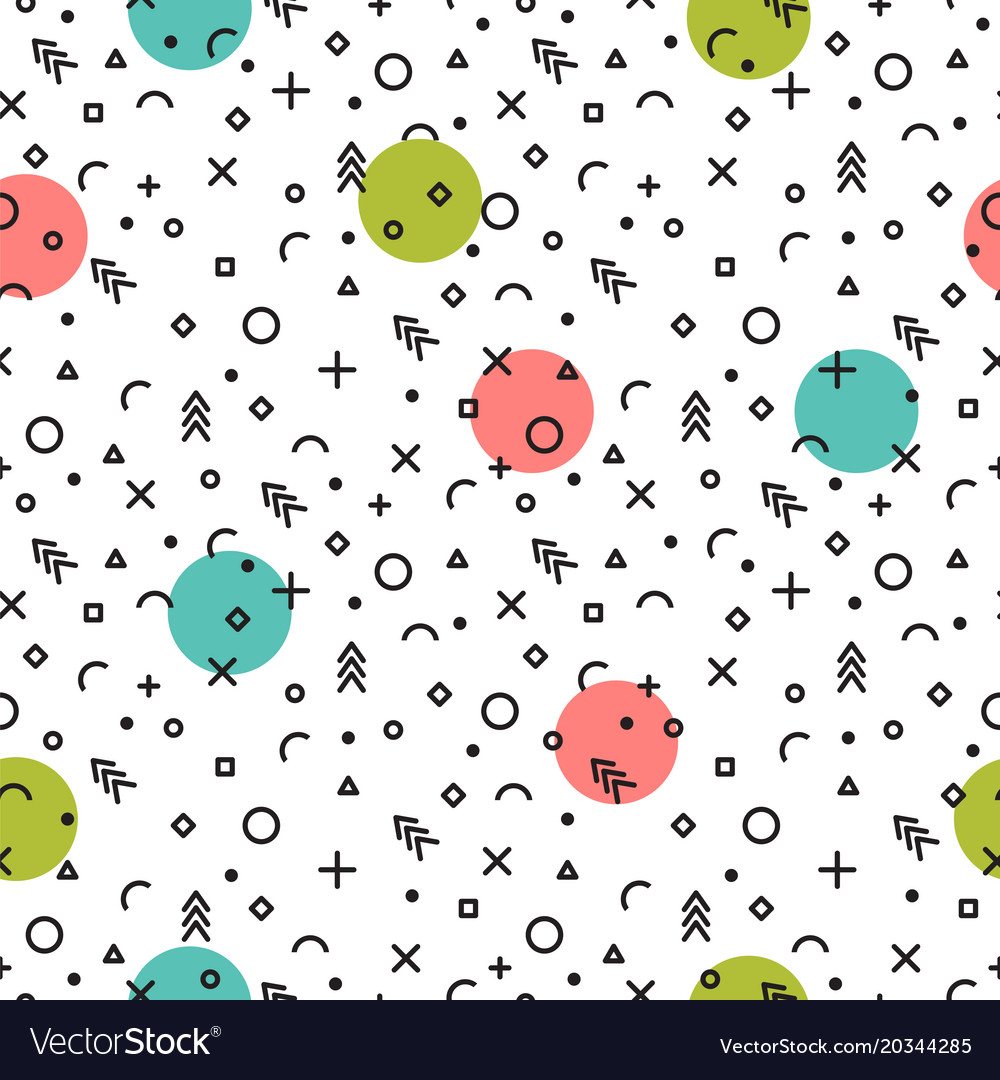 Abstract geometric seamless pattern fashion
