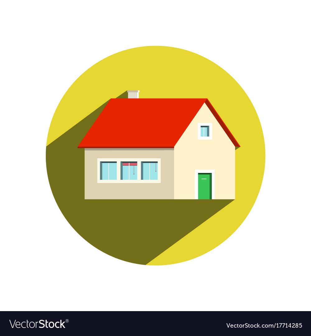 Circle house icon isolated on white background